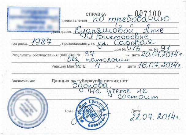 Анализ кала форма 219 у Улица Яблочкова